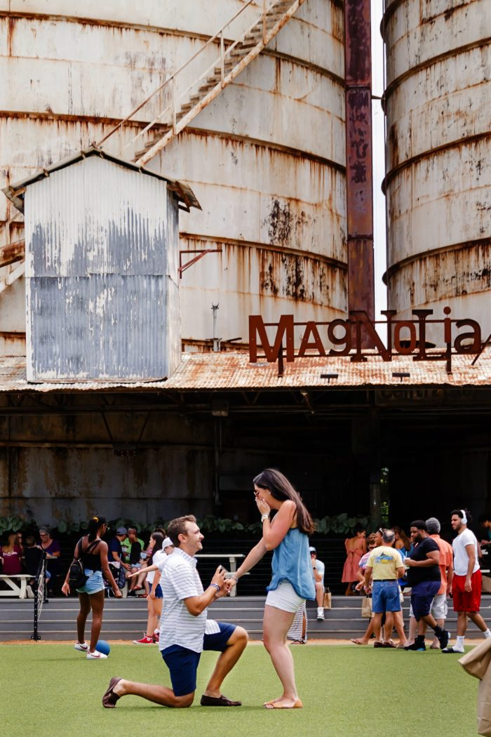 Lindsay and Cody's Engagement in Magnolia Market - Waco, Texas