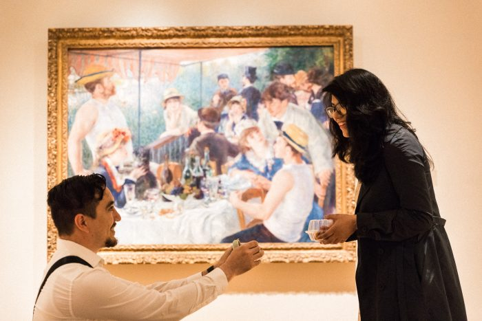 Angelica's Proposal in The Phillips Collection. Washington, D.C.