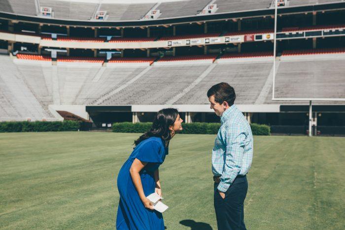 Rachel's Proposal in Athens, Georgia - Sanford Stadium