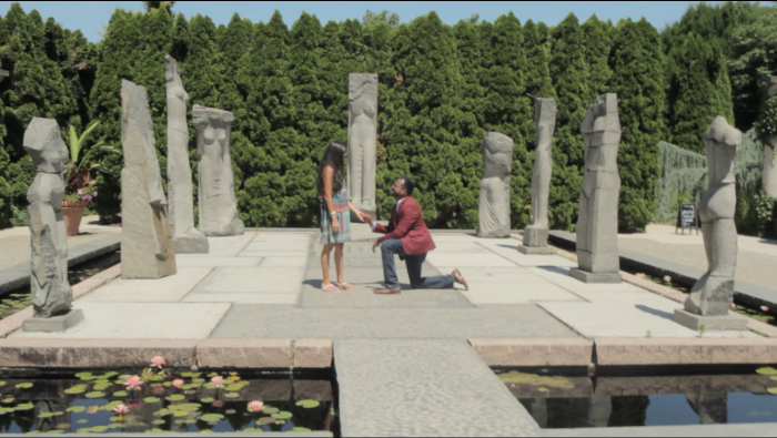 Wedding Proposal Ideas in Grounds for Sculpture