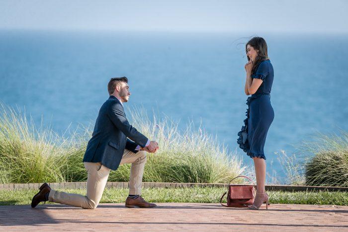 Brianna and Michael's Engagement in Terranea Resort