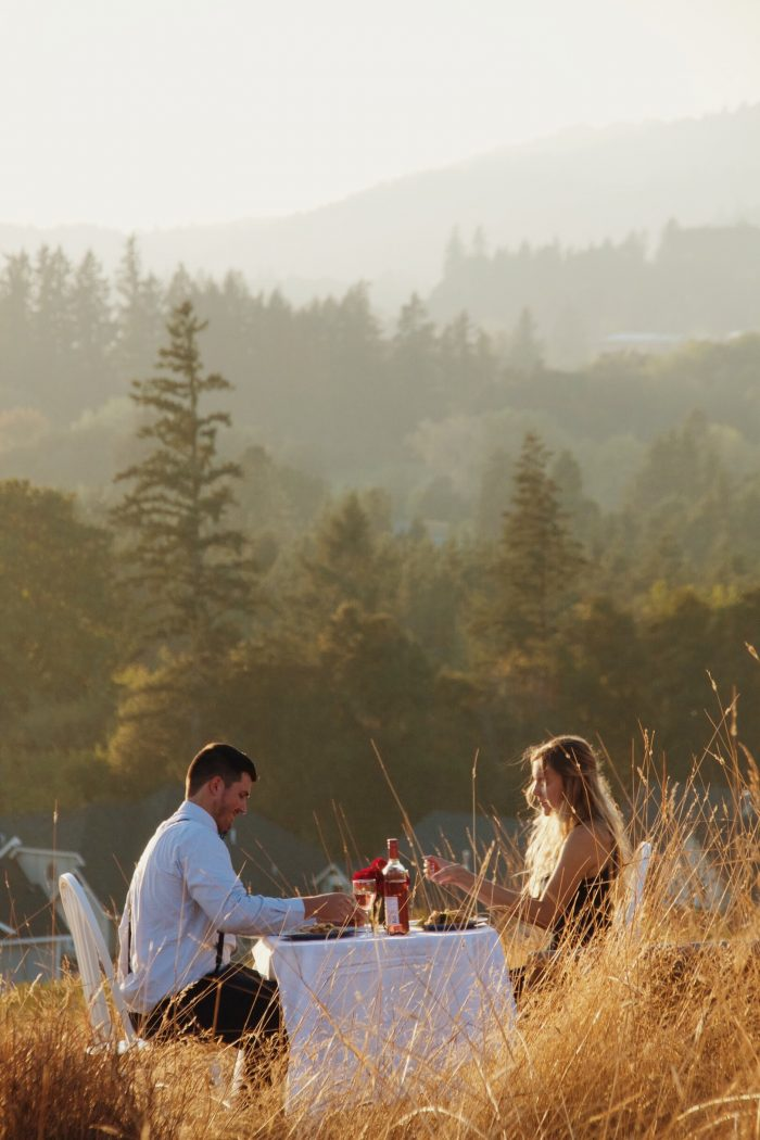 Where to Propose in Atop a lovely hillside on the outskirts of Newberg, OR