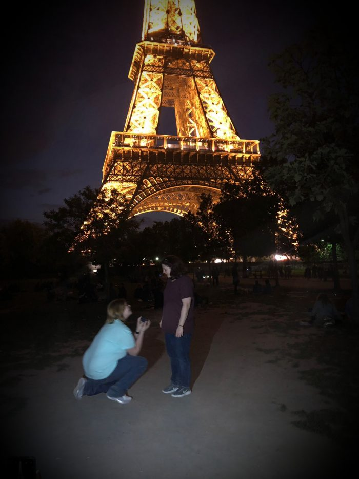 Meredith and Cambria's Engagement in Paris