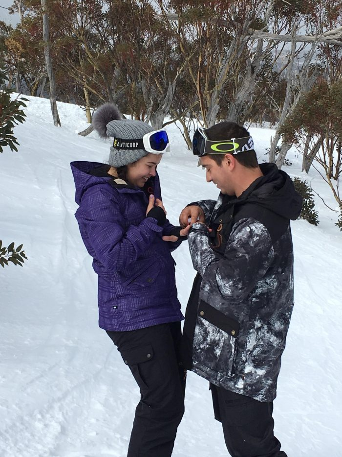 Marriage Proposal Ideas in On a mountain at the snow in Perisher