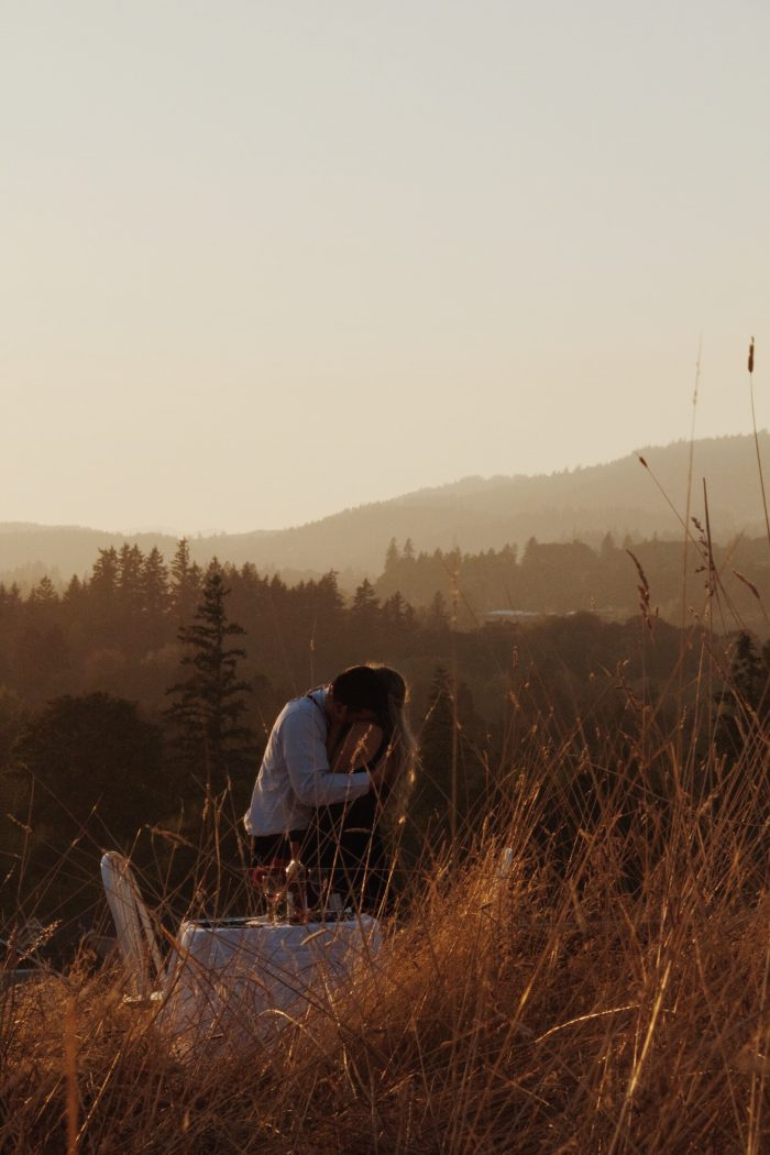 Caleb's Proposal in Atop a lovely hillside on the outskirts of Newberg, OR