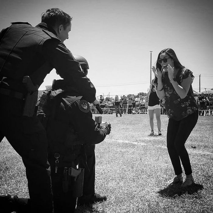 Jaymie's Proposal in Public Safety Fest