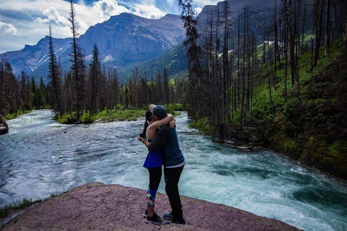 Samantha's Proposal in Glacier National Park