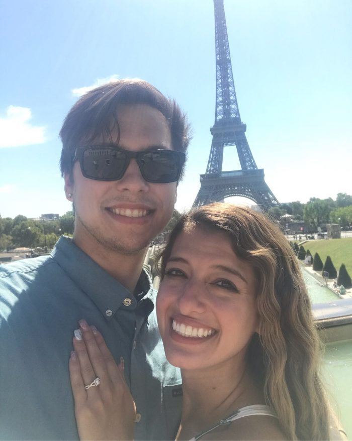 Engagement Proposal Ideas in At the top of the Eiffel Tower.