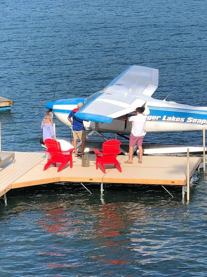 Proposal Ideas In a private jet boat overlooking the fingerlakes