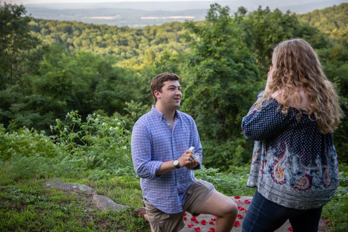 Hannah's Proposal in Monte Sano, Huntsville AL