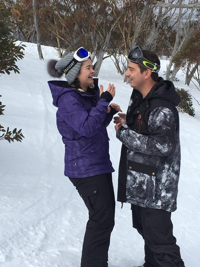 Wedding Proposal Ideas in On a mountain at the snow in Perisher