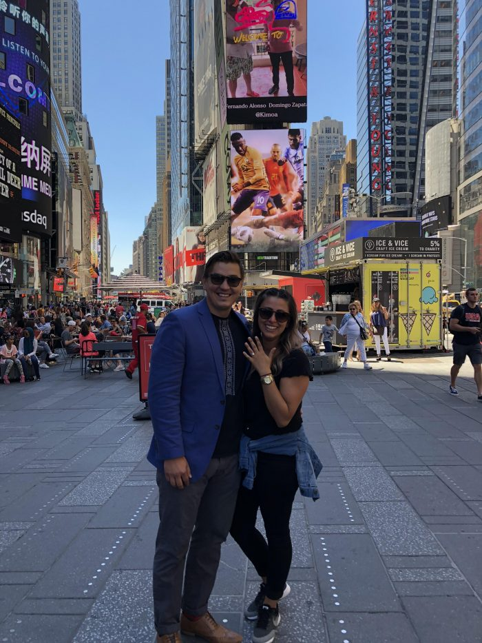Pasqualina and Andriy's Engagement in New York City, Times Square