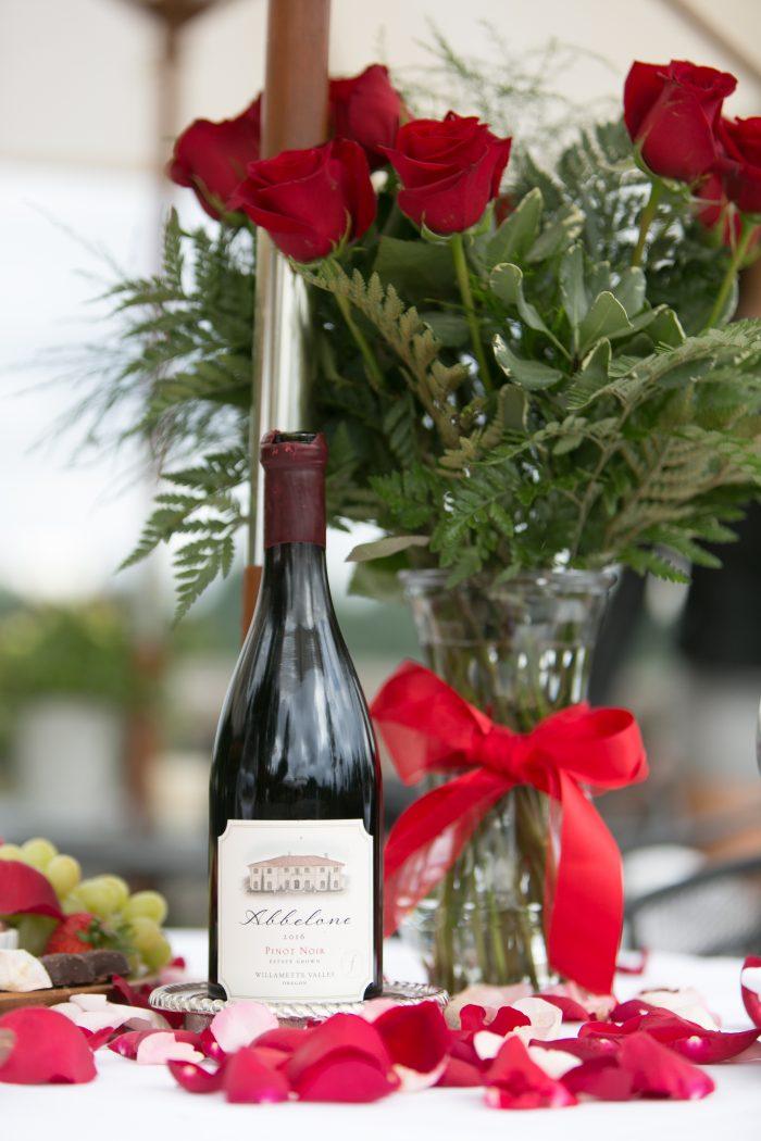 Alexus and Kallan's Engagement in Abbelone Vineyard in Eugene Oregon