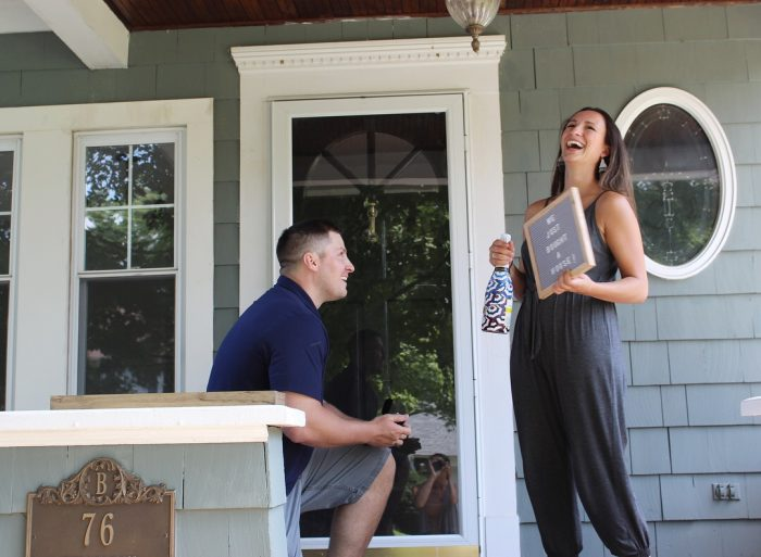 Where to Propose in At our new home at closing