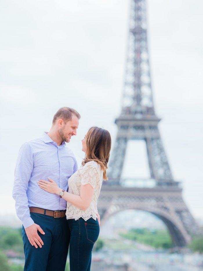 Tarina and Visar's Engagement in Paris, France