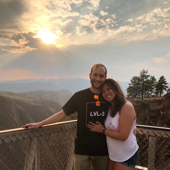 Mica and Todd's Engagement in Royal gorge bridge, Colorado