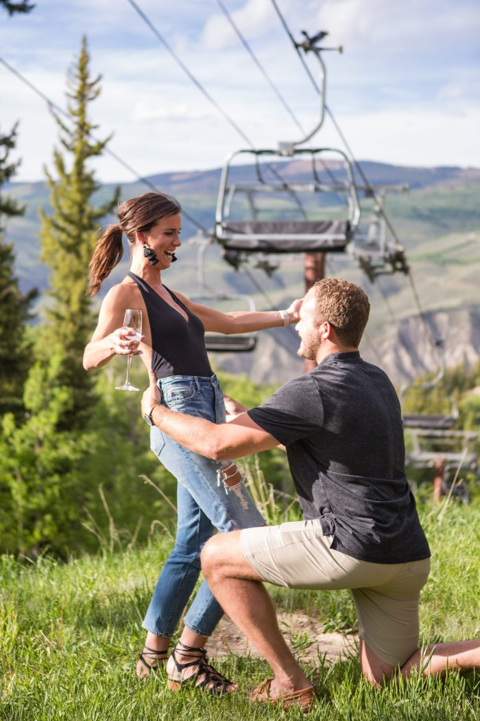 Engagement Proposal Ideas in Ritz Carlton at Bachelor Gulch Colorado