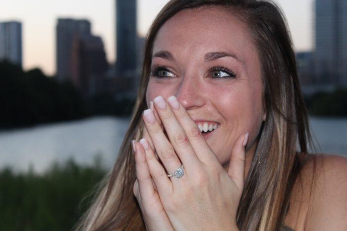 Ali's Proposal in Lady bird lake in Austin