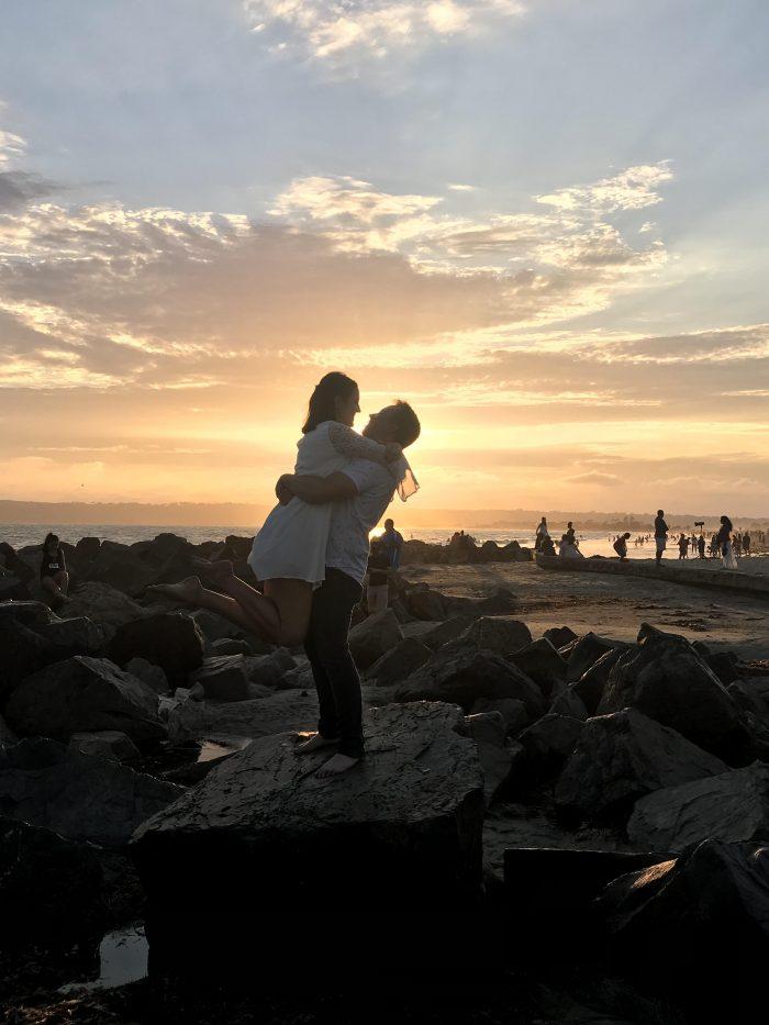 Marriage Proposal Ideas in Coronado Beach, in front of the Hotel Del