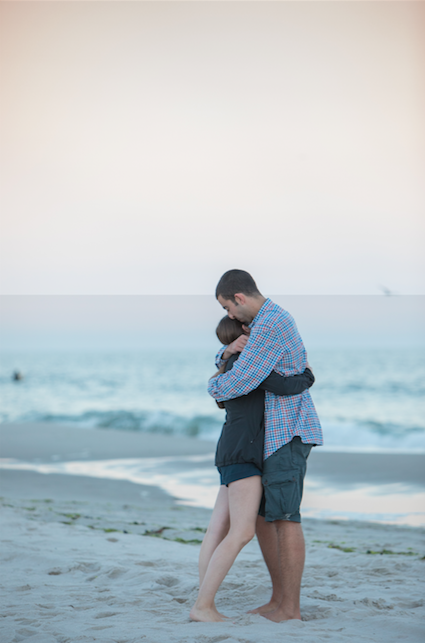 Alanna and Zach's Engagement in Long Beach, New York