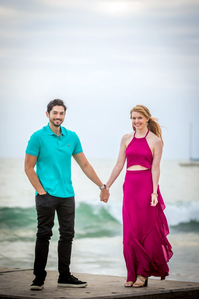 Courtney's Proposal in Beach in Playa Del Rey near where we live