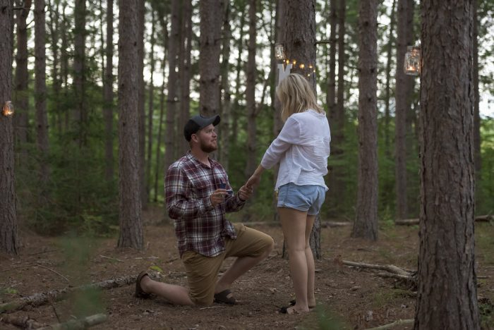 Macaila and Matthew's Engagement in In the pine forest behind his cottage ( Deacon, ON.)