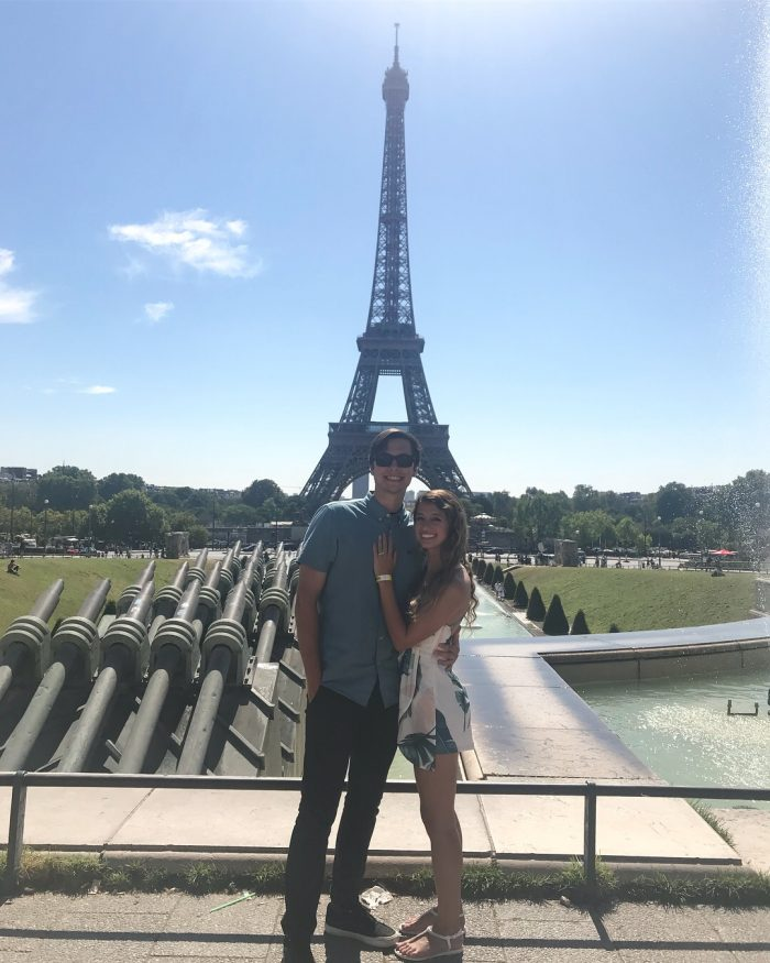 Madison and Justin's Engagement in At the top of the Eiffel Tower.