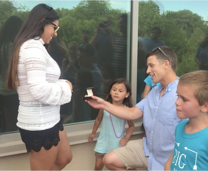Wedding Proposal Ideas in My sisters house during her gender reveal