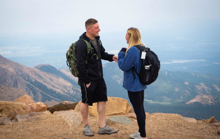 Nicole's Proposal in Pike's Peak in Colorado Springs, CO