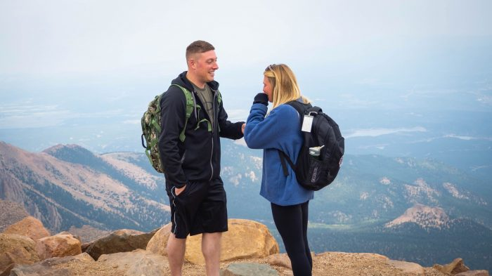 Engagement Proposal Ideas in Pike's Peak in Colorado Springs, CO