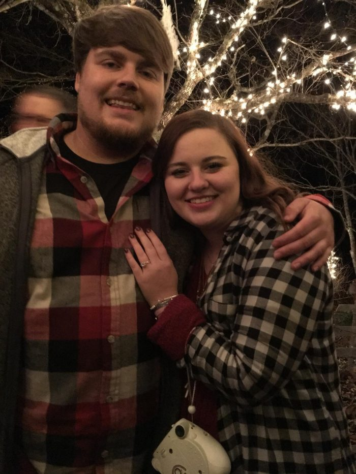 Engagement Proposal Ideas in Luke's Mawmaw's house