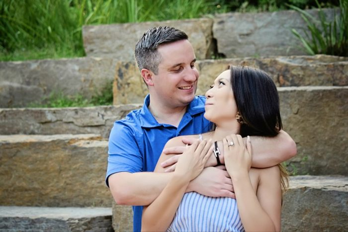 Jessica's Proposal in McGovern Centennial Gardens