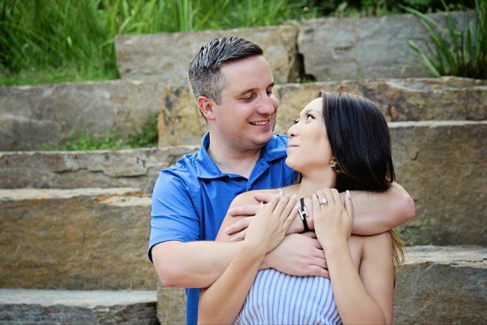 Jessica's Proposal in McGovern Centennial Gardens
