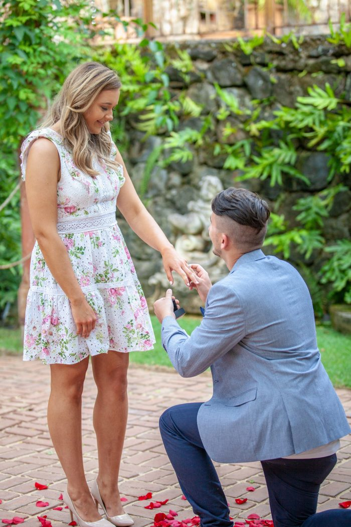 Dawid's Proposal in Maui at the Haiku Mill