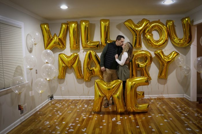 Where to Propose in Our living room in our new home