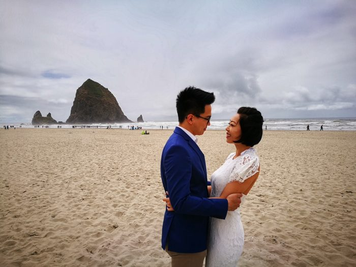 Engagement Proposal Ideas in Cannon Beach, Oregon, USA
