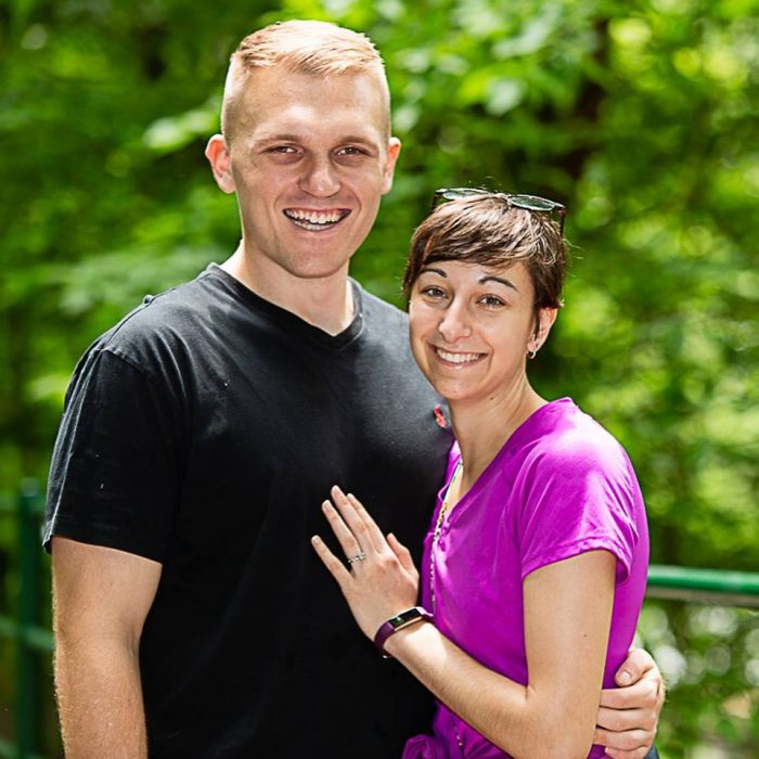 Kelly's Proposal in Roaring Run Park. The site of our first date.