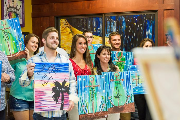 Brandon's Proposal in Painting With A Twist in Trinity,Florida