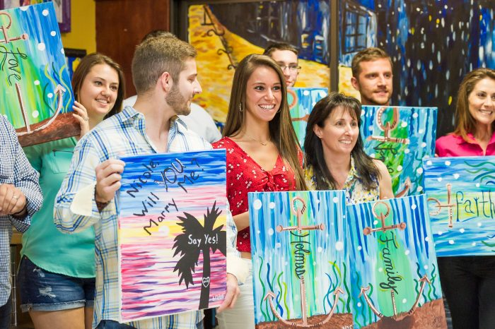 Marriage Proposal Ideas in Painting With A Twist in Trinity,Florida