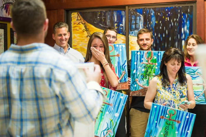 Engagement Proposal Ideas in Painting With A Twist in Trinity,Florida