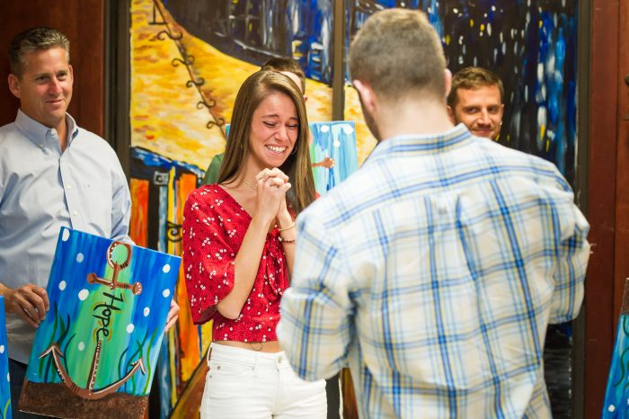 Wedding Proposal Ideas in Painting With A Twist in Trinity,Florida