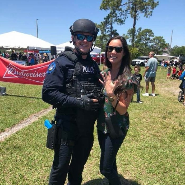 Jaymie and Matthew's Engagement in Public Safety Fest