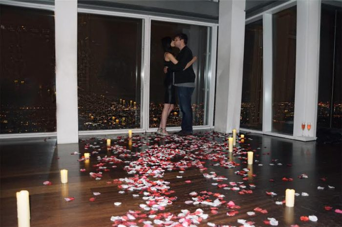 Alison and Tyler's Engagement in The Shard, London