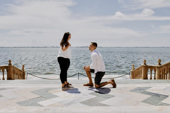 Marriage Proposal Ideas in Florida, at the ringling brothers estate