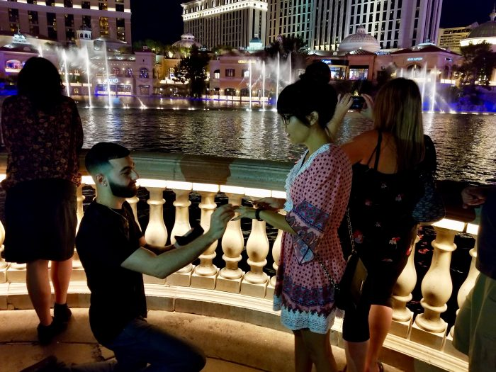Where to Propose in At the Bellagio Fountain in Las Vegas
