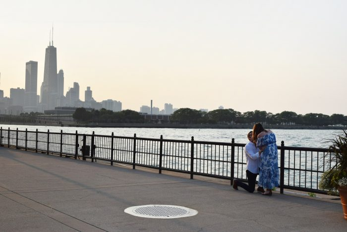 Marriage Proposal Ideas in Navy Pier in Chicago, Illinois