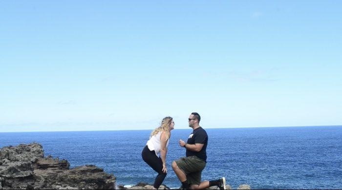 Laura's Proposal in Nakalele Blowhole Maui Hawaii
