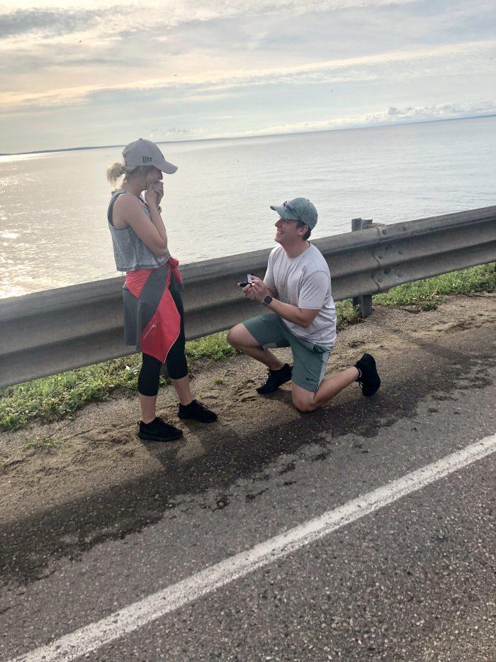 Victoria and Shawn's Engagement in Mackinac Bridge, Mackinaw City, Michigan
