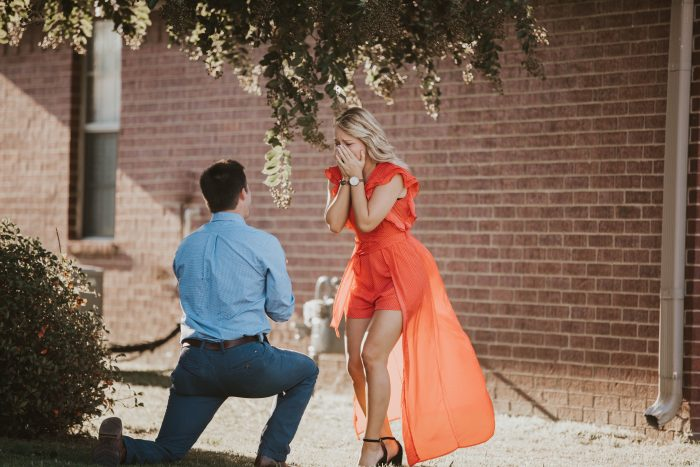 Wedding Proposal Ideas in The House where we first met in Conway, AR