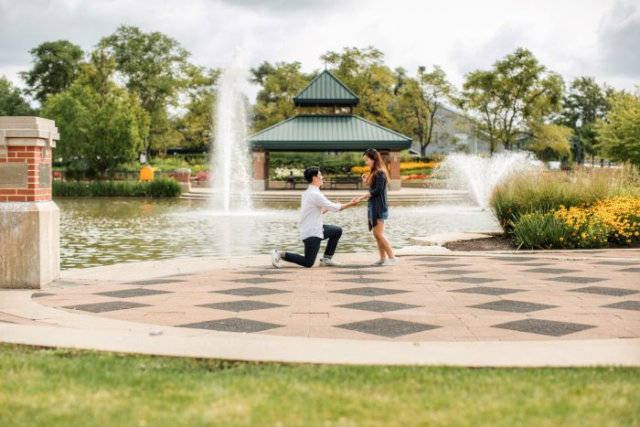 Yunah's Proposal in Town Square of Schaumburg